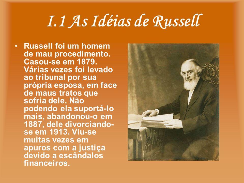 I.1 As Idéias de Russell