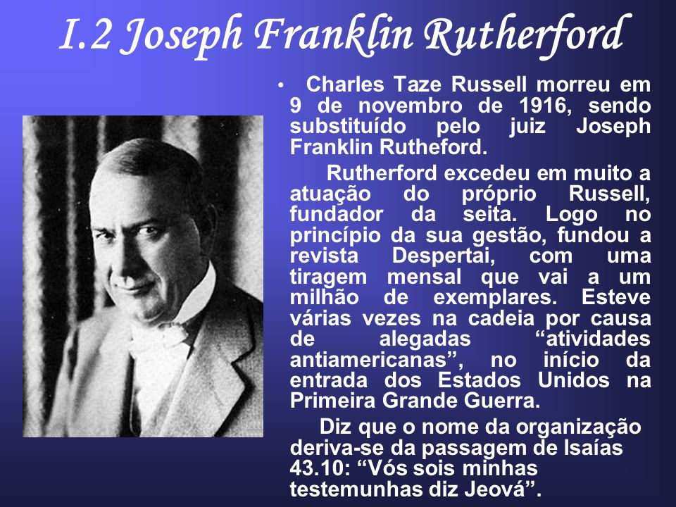 I.2 Joseph Franklin Rutherford