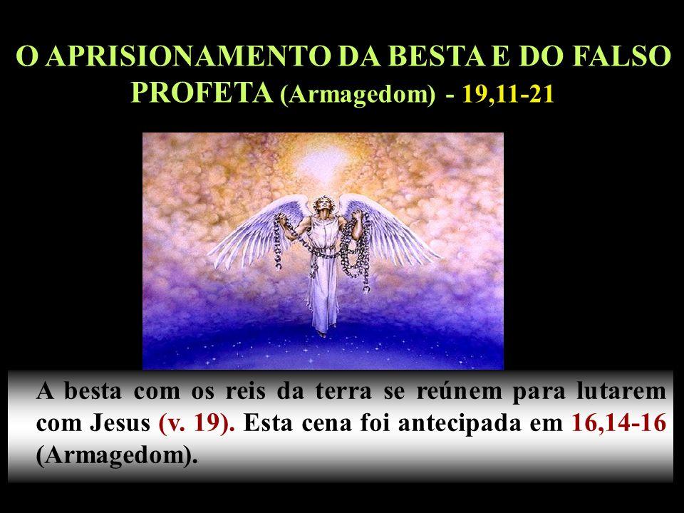 O APRISIONAMENTO DA BESTA E DO FALSO PROFETA (Armagedom) - 19,11-21