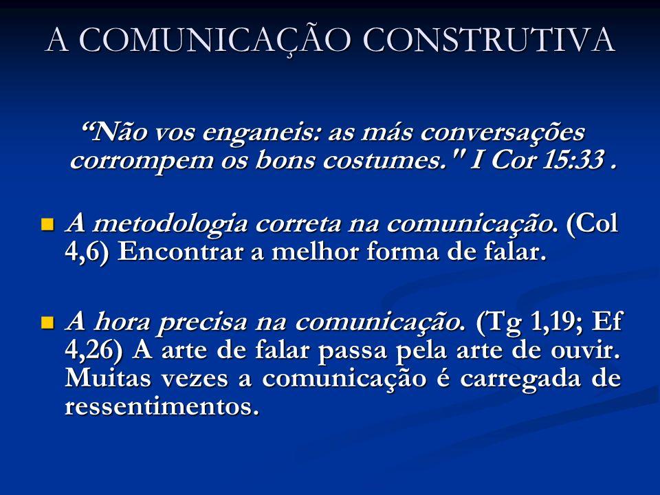 A COMUNICAÇÃO CONSTRUTIVA