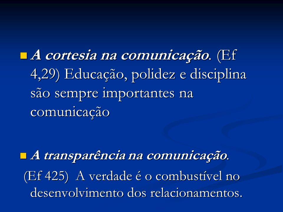 A cortesia na comunicação