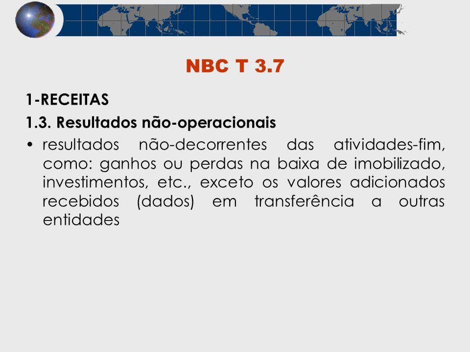 NBC T 3.7 1-RECEITAS 1.3. Resultados não-operacionais