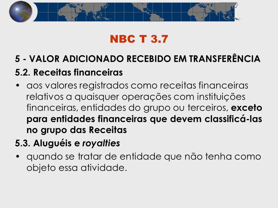 NBC T 3.7 5 - VALOR ADICIONADO RECEBIDO EM TRANSFERÊNCIA