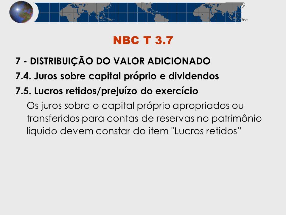 NBC T 3.7 7 - DISTRIBUIÇÃO DO VALOR ADICIONADO