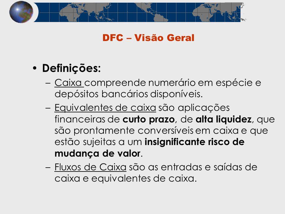 Definições: DFC – Visão Geral