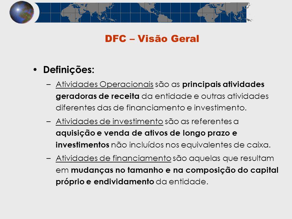 DFC – Visão Geral Definições: