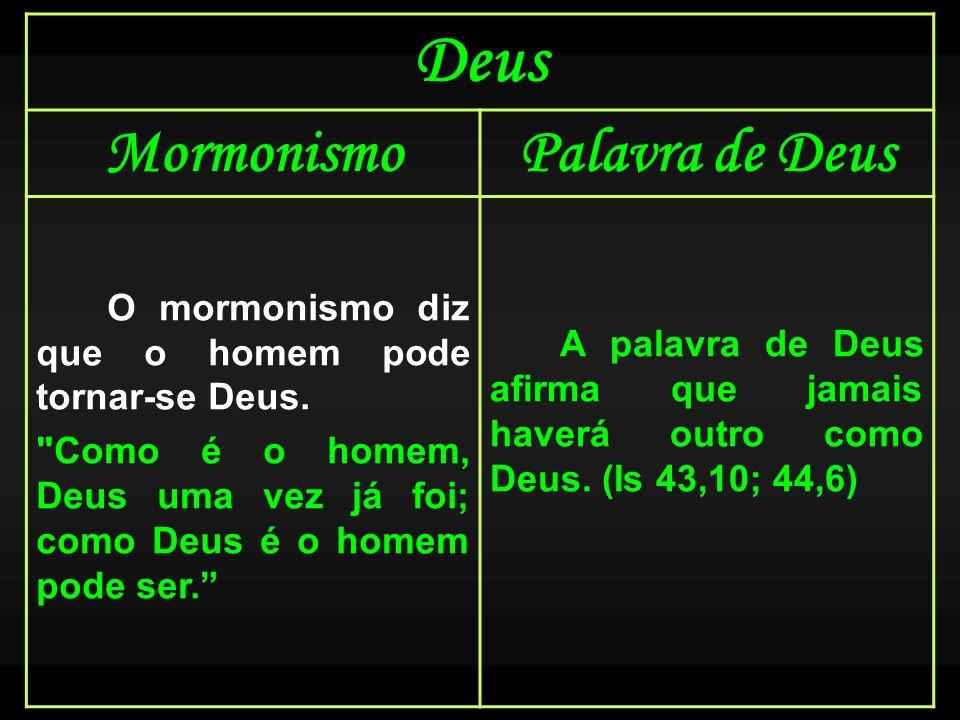 Deus Mormonismo Palavra de Deus