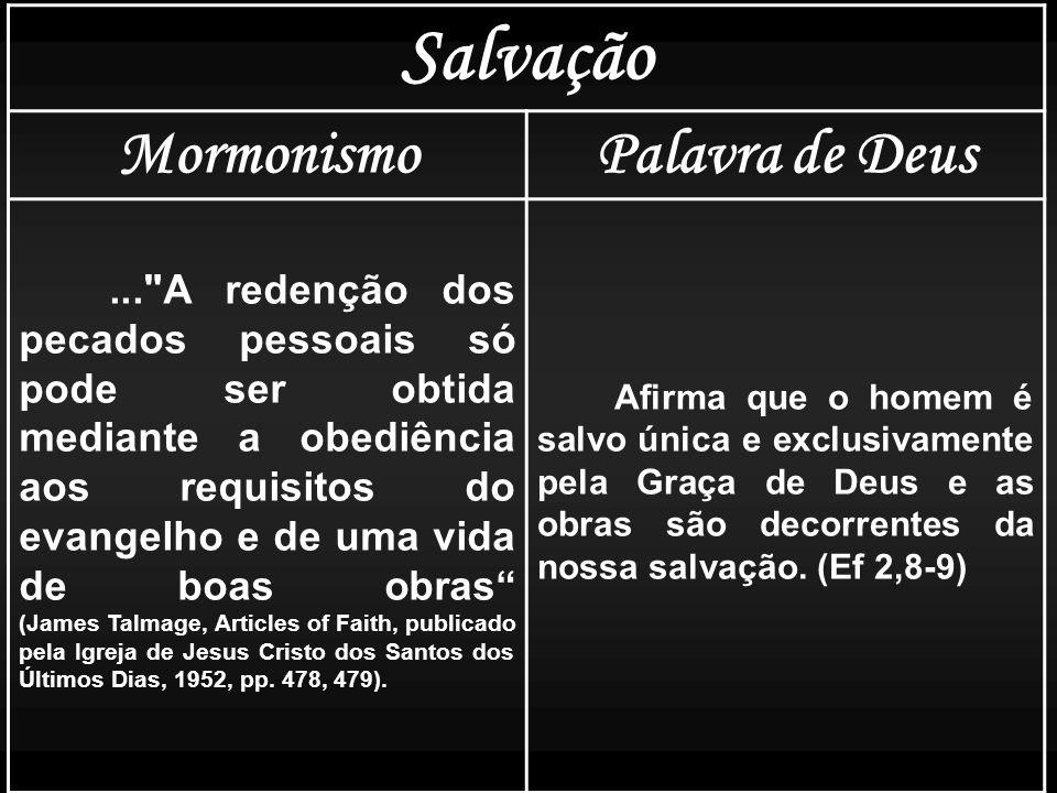 Salvação Mormonismo Palavra de Deus