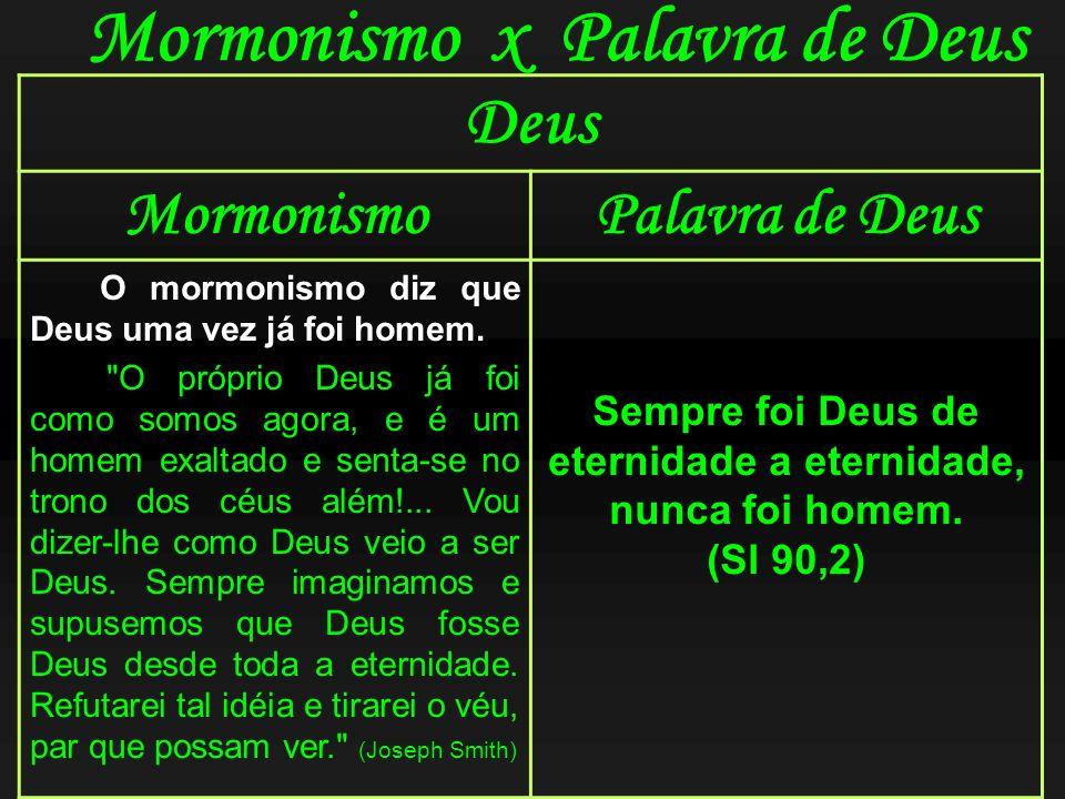Mormonismo x Palavra de Deus