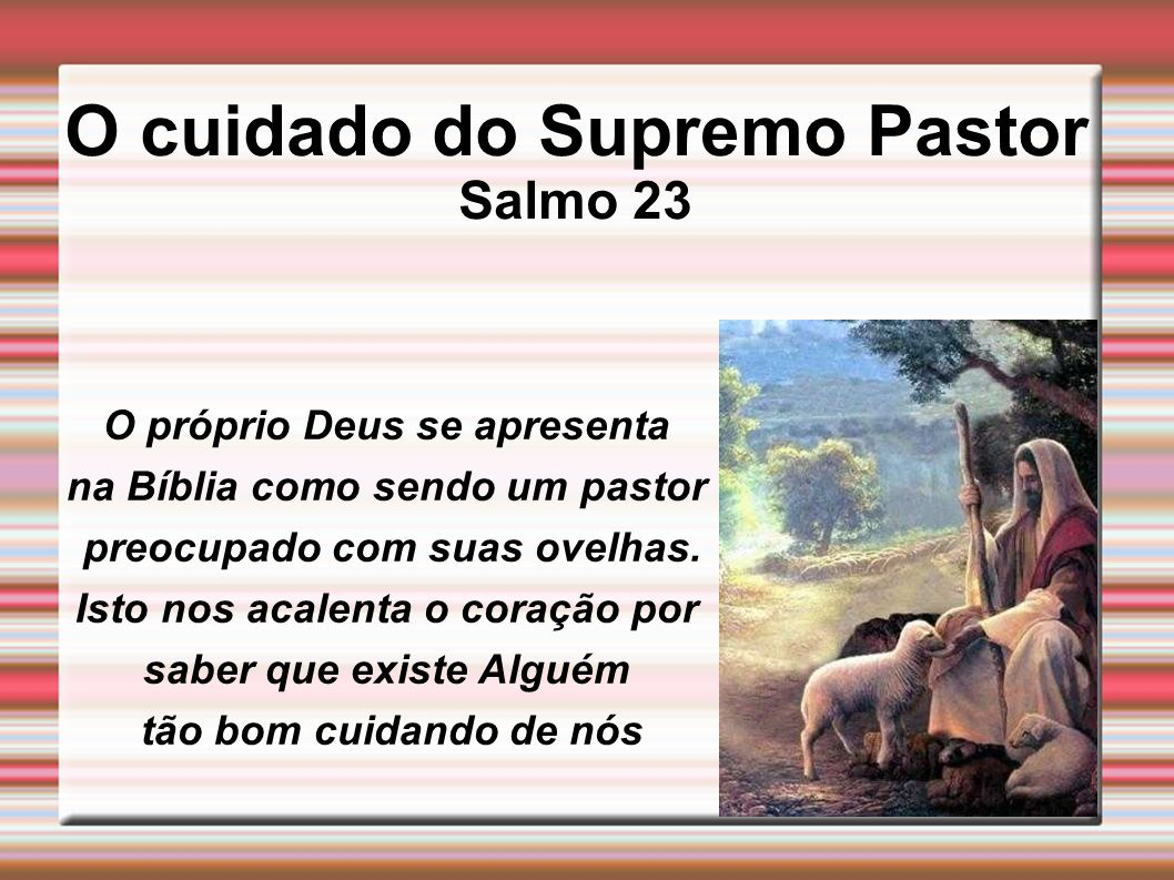 O cuidado do Supremo Pastor