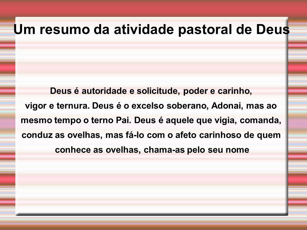 Um resumo da atividade pastoral de Deus