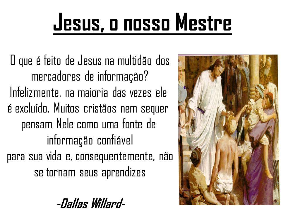 Jesus, o nosso Mestre O que é feito de Jesus na multidão dos