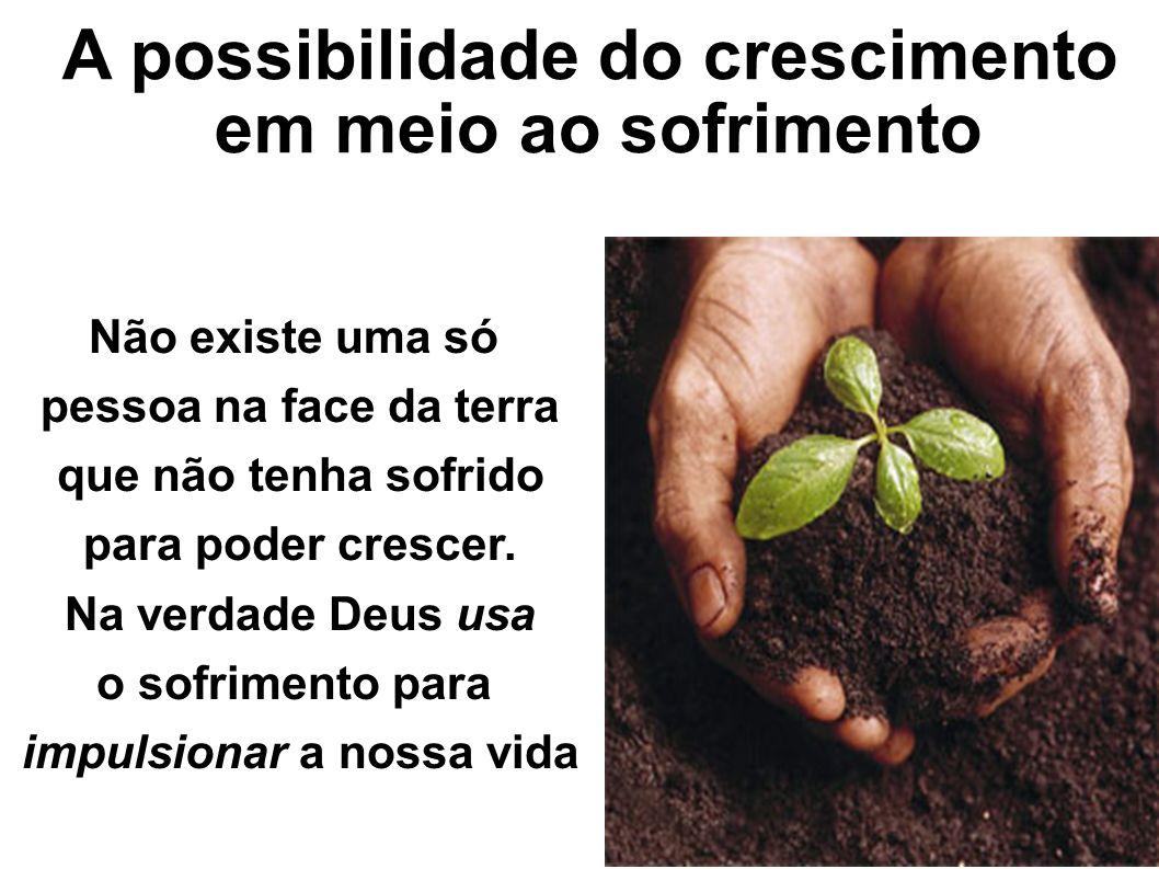 A possibilidade do crescimento impulsionar a nossa vida