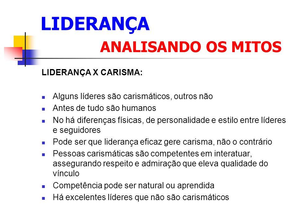 LIDERANÇA ANALISANDO OS MITOS