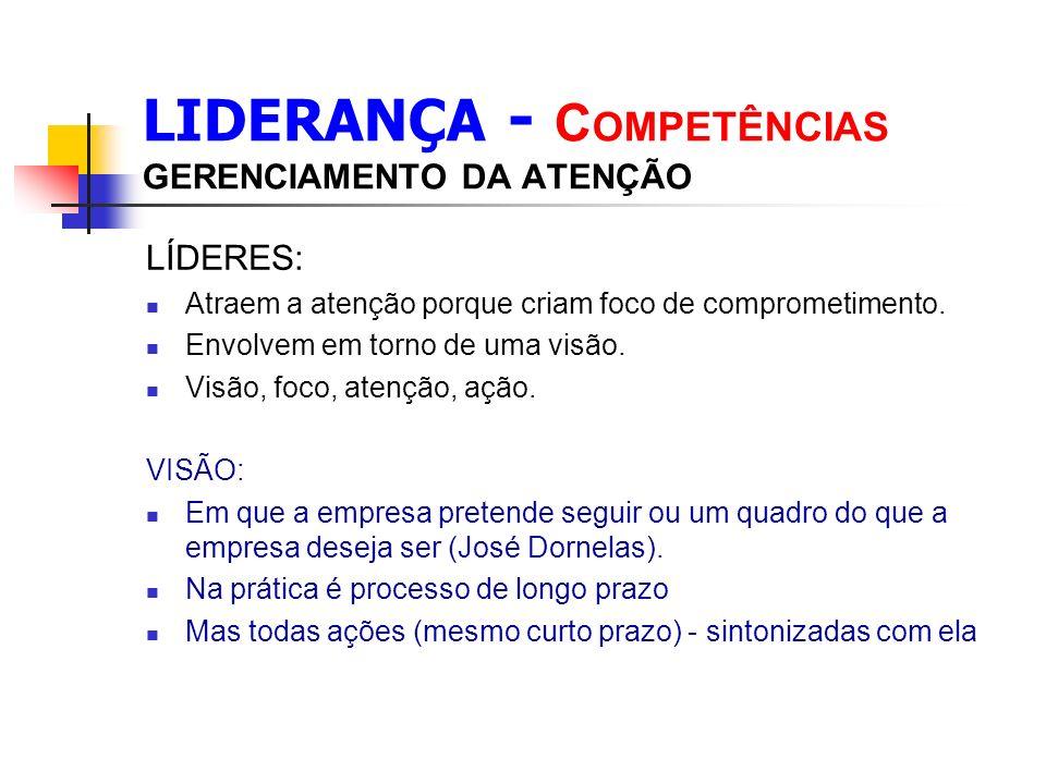 LIDERANÇA - COMPETÊNCIAS GERENCIAMENTO DA ATENÇÃO