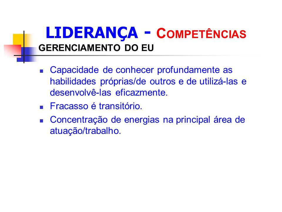 LIDERANÇA - COMPETÊNCIAS GERENCIAMENTO DO EU
