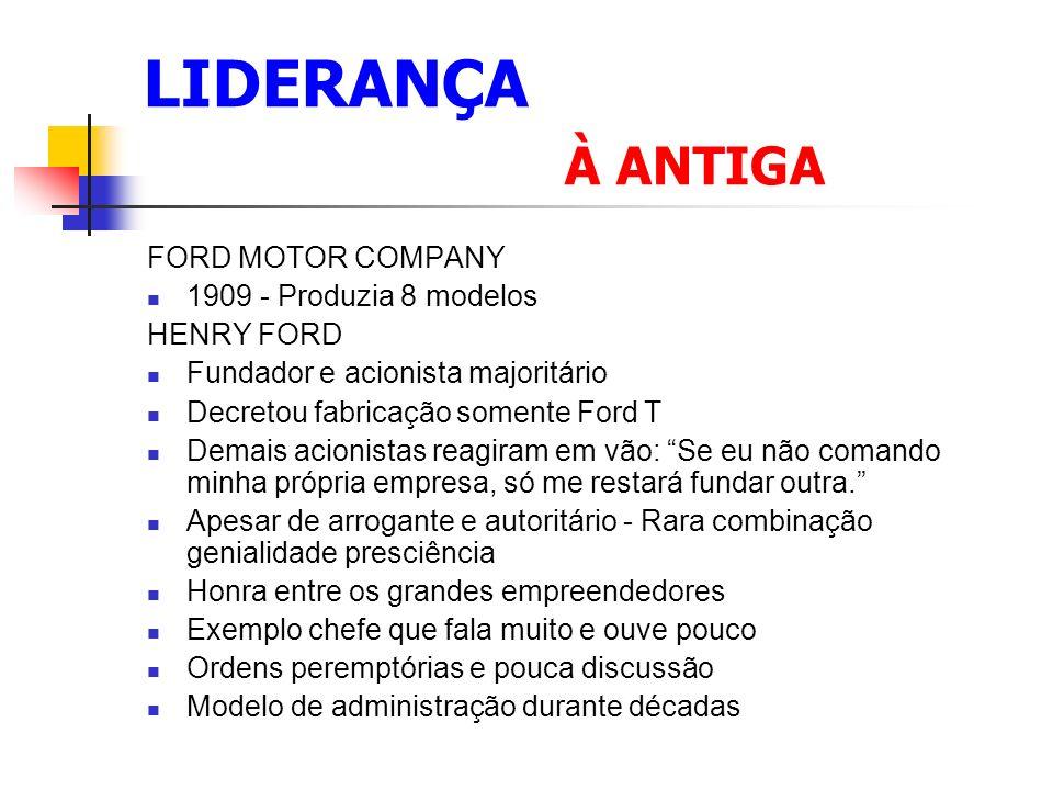 LIDERANÇA À ANTIGA FORD MOTOR COMPANY 1909 - Produzia 8 modelos