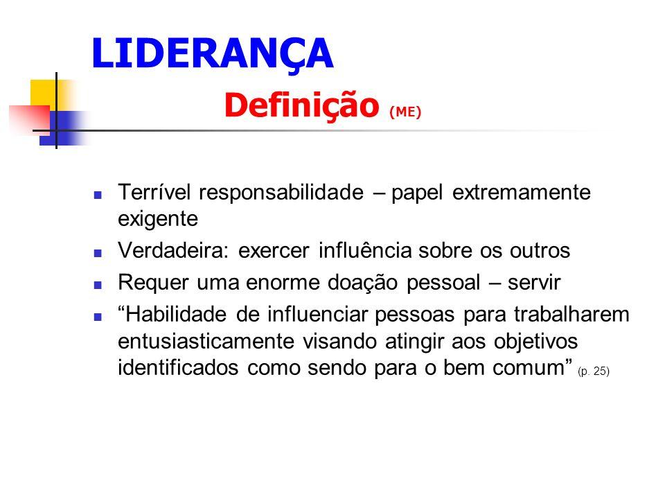 LIDERANÇA Definição (ME)