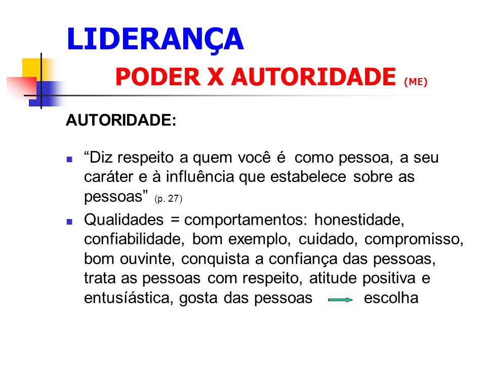 LIDERANÇA PODER X AUTORIDADE (ME)