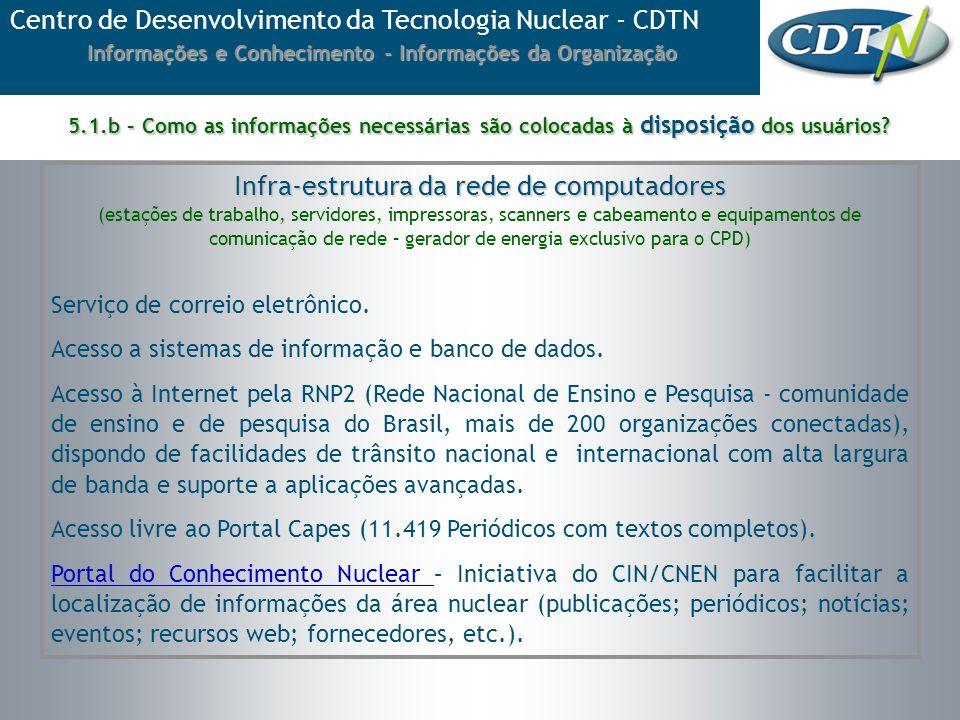 Informações e Conhecimento - Informações da Organização