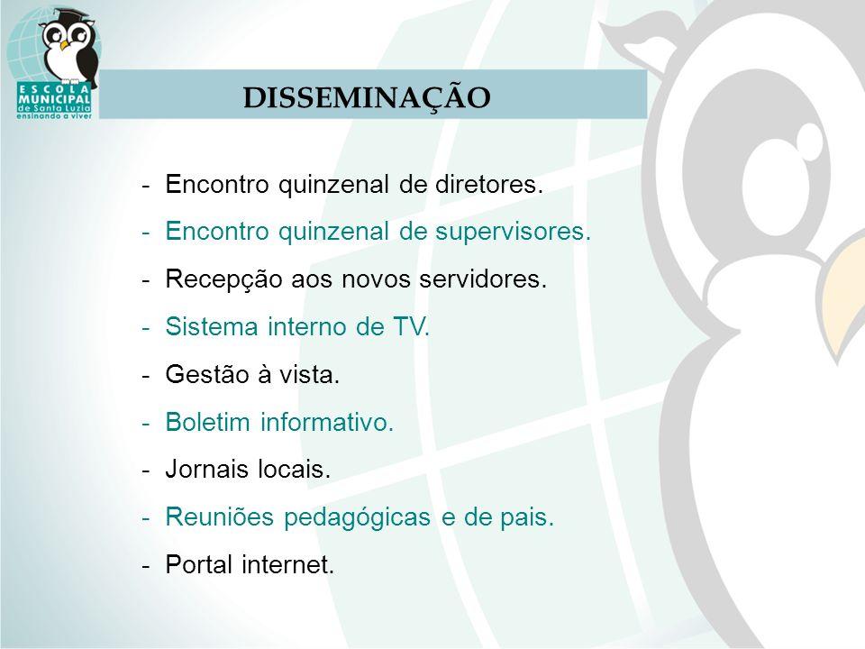 DISSEMINAÇÃO - Encontro quinzenal de diretores.