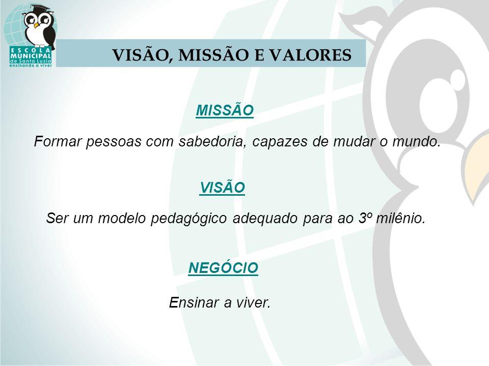 VISÃO, MISSÃO E VALORES MISSÃO