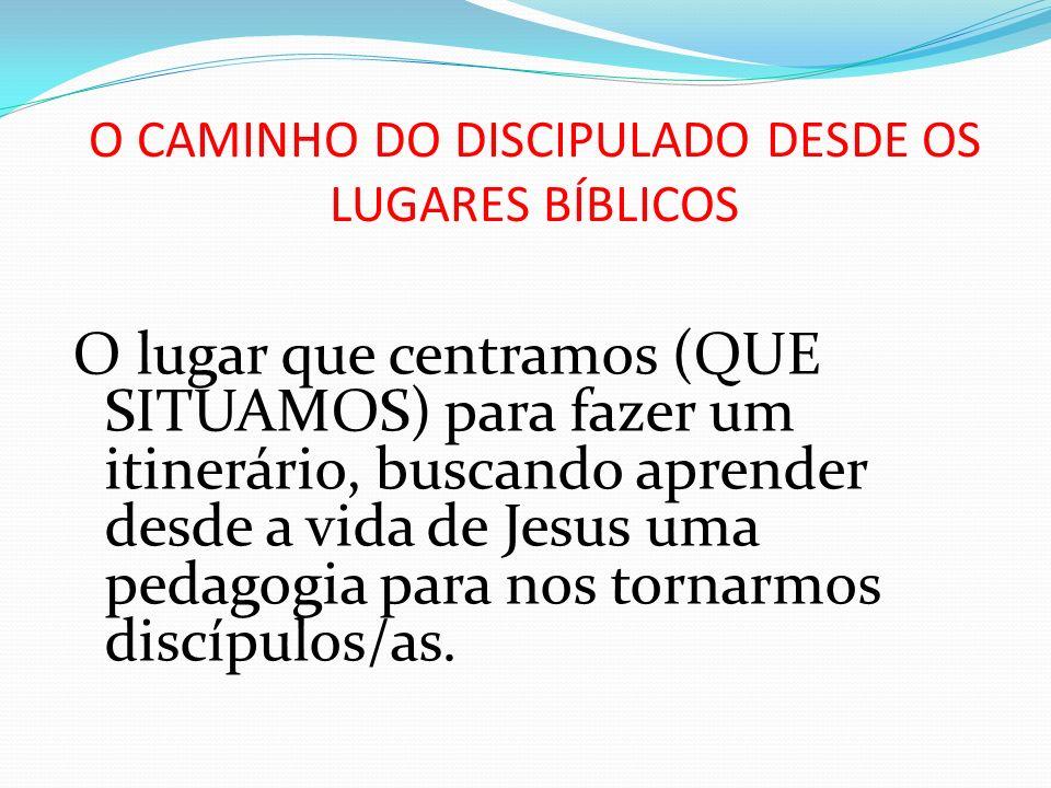 O CAMINHO DO DISCIPULADO DESDE OS LUGARES BÍBLICOS