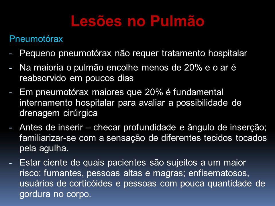 Lesões no Pulmão Pneumotórax