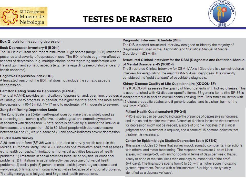TESTES DE RASTREIO