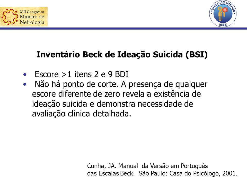 Inventário Beck de Ideação Suicida (BSI)