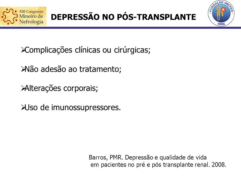 DEPRESSÃO NO PÓS-TRANSPLANTE