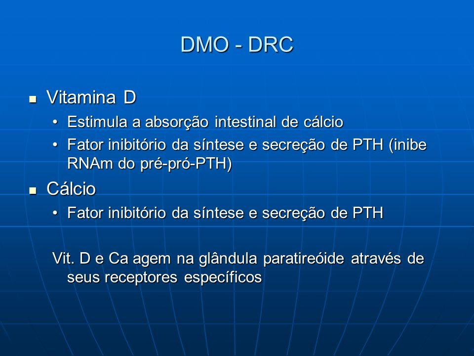 DMO - DRC Vitamina D Cálcio Estimula a absorção intestinal de cálcio