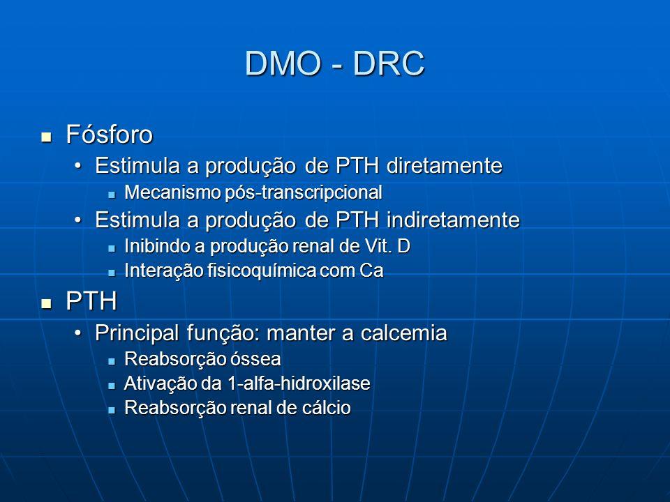 DMO - DRC Fósforo PTH Estimula a produção de PTH diretamente
