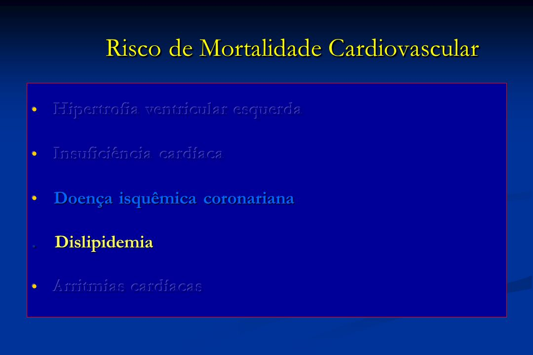 Risco de Mortalidade Cardiovascular