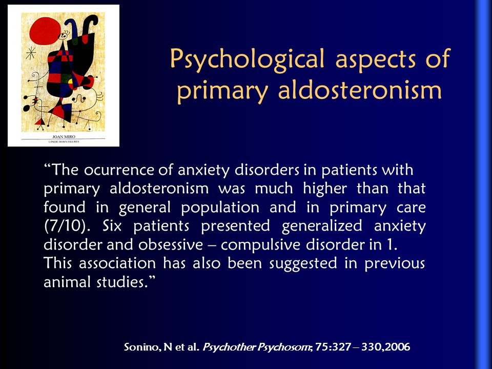 Psychological aspects of primary aldosteronism