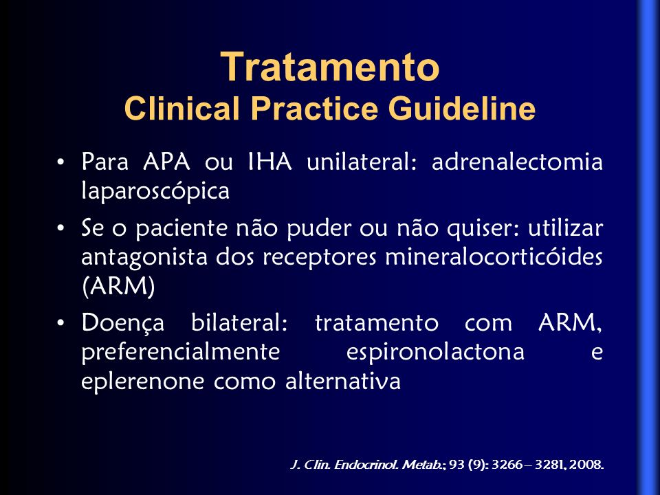 Tratamento Clinical Practice Guideline