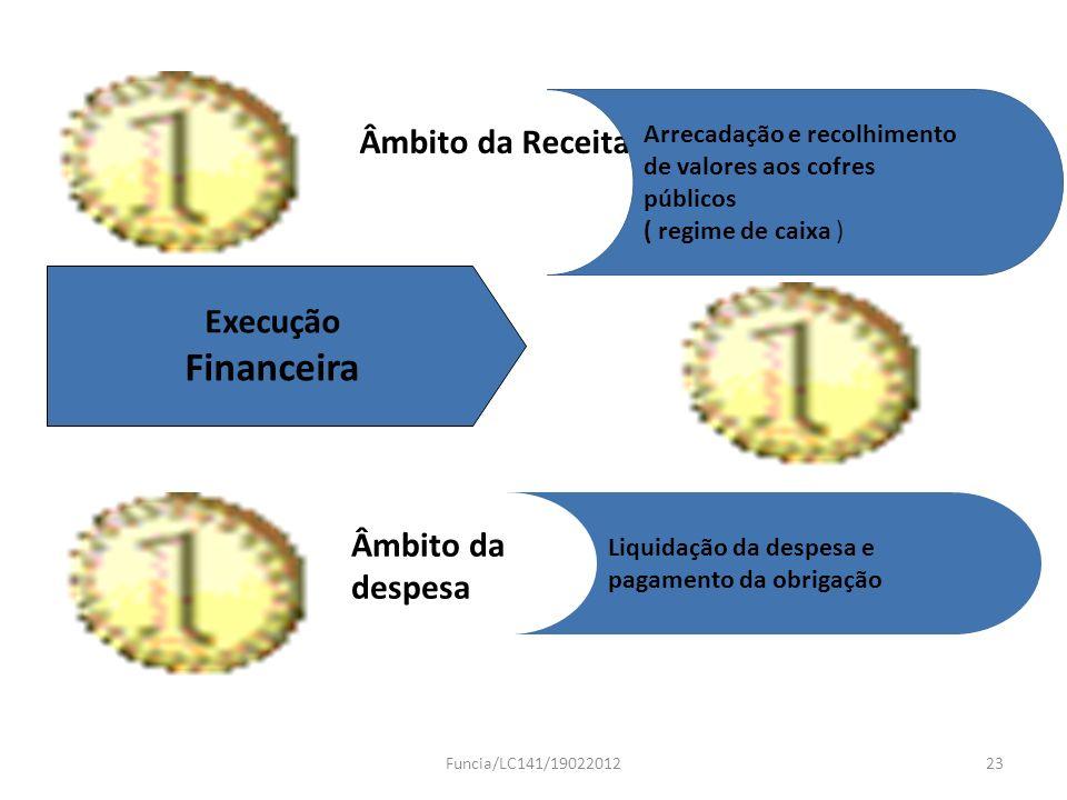Financeira Âmbito da Receita Execução Âmbito da despesa