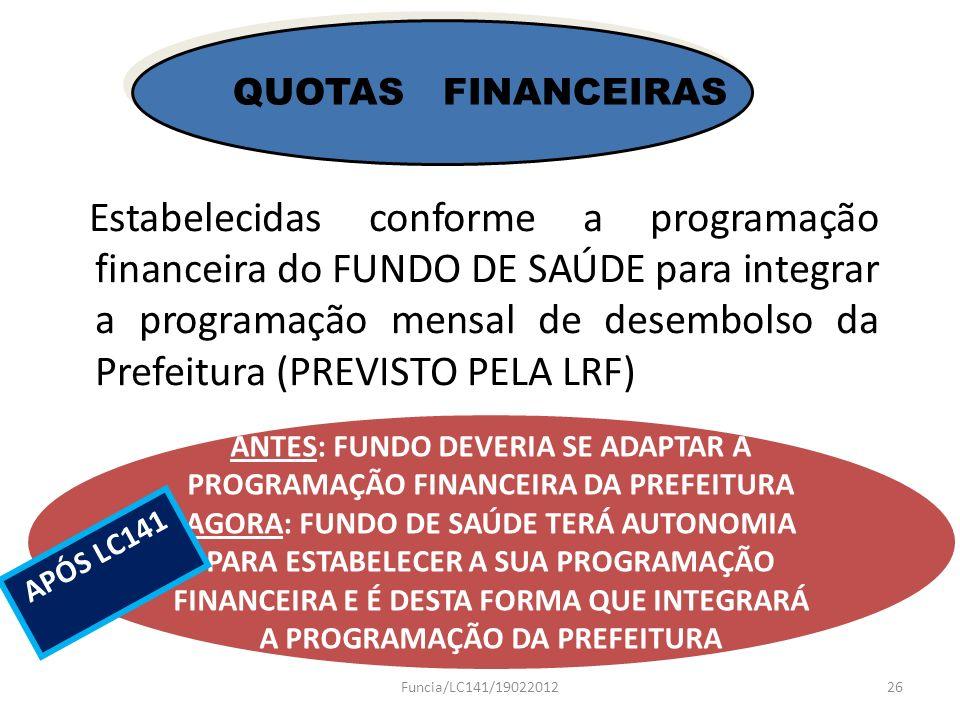 ANTES: FUNDO DEVERIA SE ADAPTAR À PROGRAMAÇÃO FINANCEIRA DA PREFEITURA