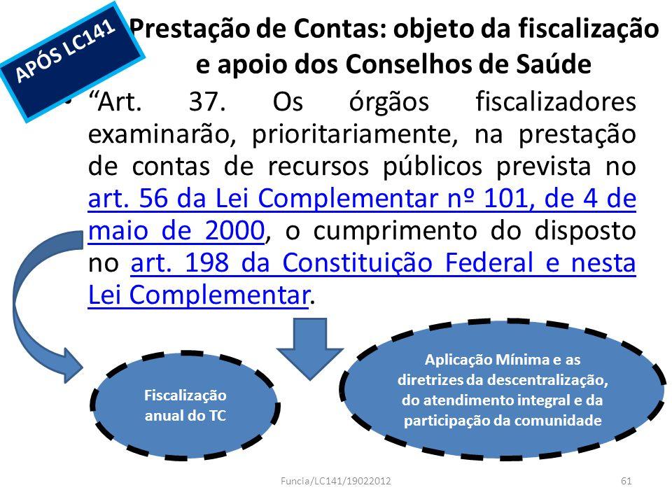 Fiscalização anual do TC
