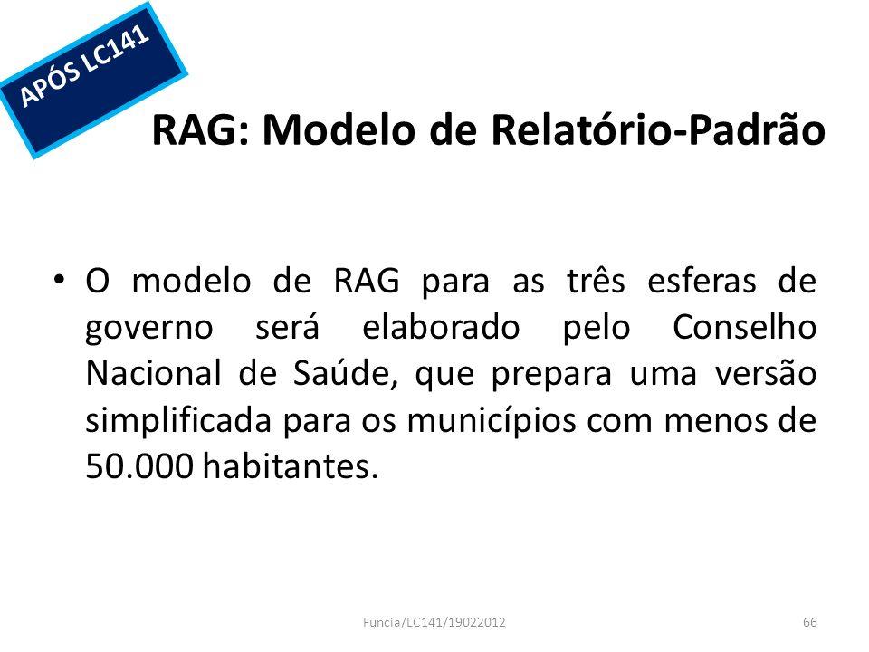 RAG: Modelo de Relatório-Padrão