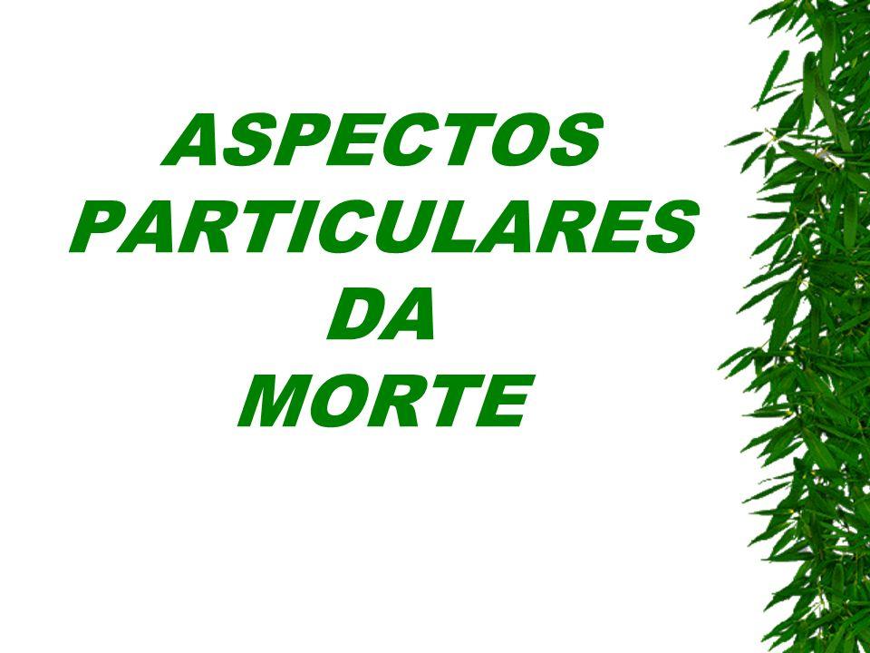 ASPECTOS PARTICULARES DA MORTE