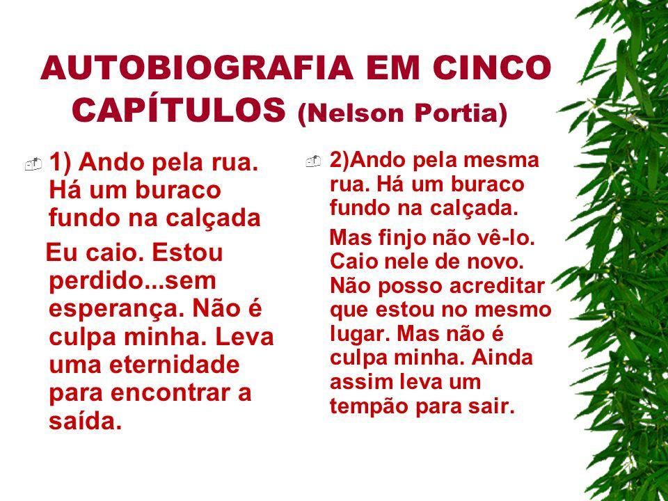 AUTOBIOGRAFIA EM CINCO CAPÍTULOS (Nelson Portia)