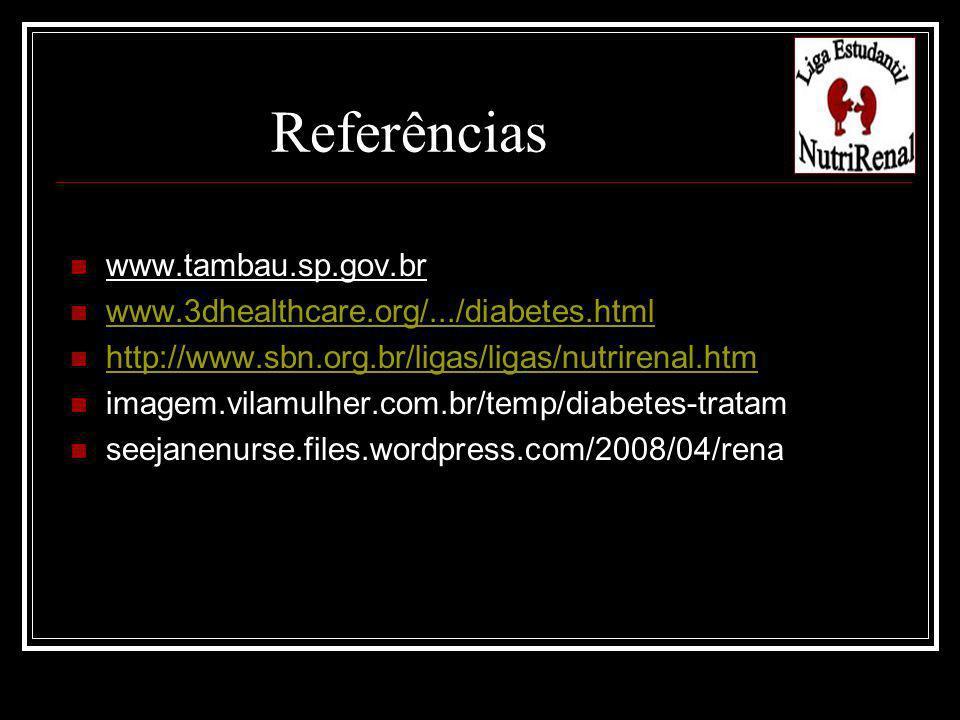Referências www.tambau.sp.gov.br