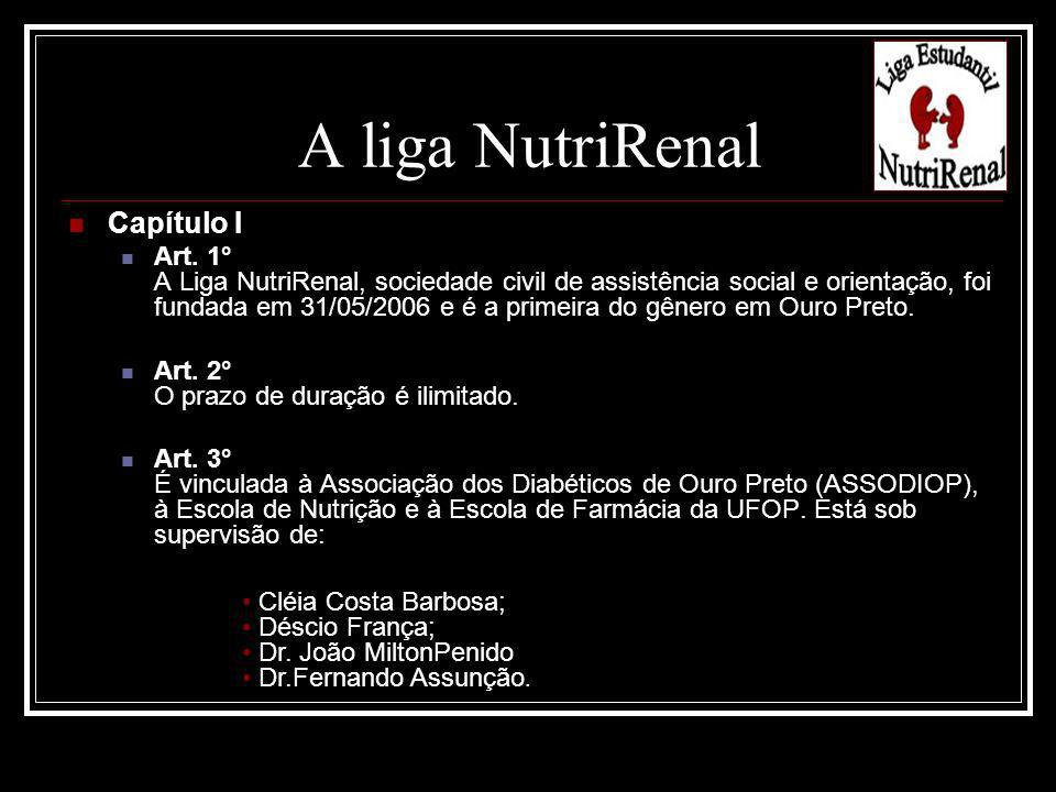 A liga NutriRenal Capítulo I