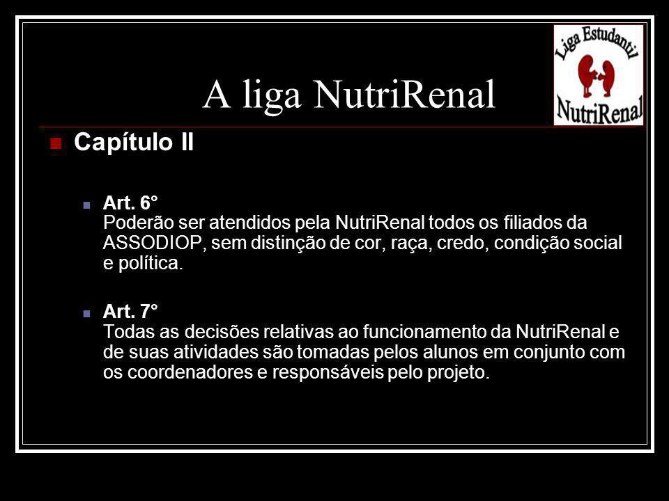 A liga NutriRenal Capítulo II