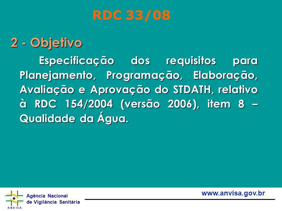 RDC 33/08 2 - Objetivo.