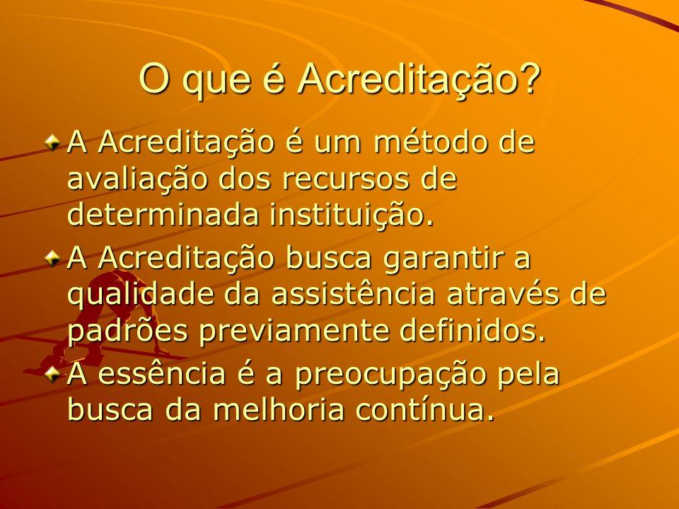 O que é Acreditação A Acreditação é um método de avaliação dos recursos de determinada instituição.