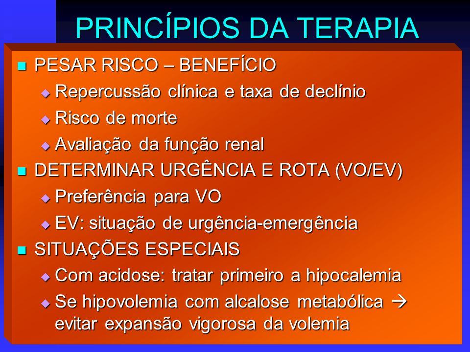 PRINCÍPIOS DA TERAPIA PESAR RISCO – BENEFÍCIO