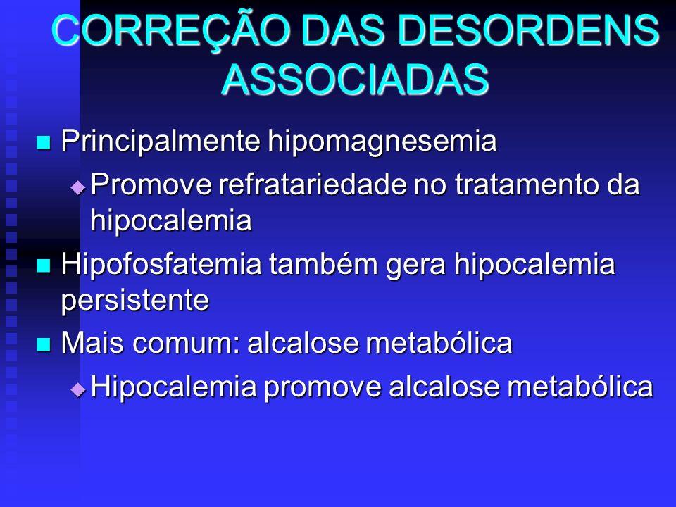 CORREÇÃO DAS DESORDENS ASSOCIADAS