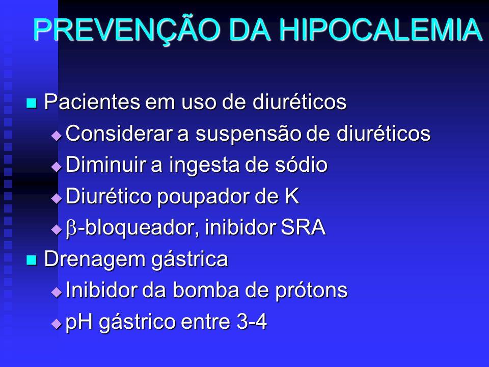 PREVENÇÃO DA HIPOCALEMIA